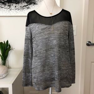 H&M Divided Black and Gray Knitted Long Sleeve Med